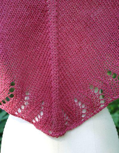 free knitting shawl patterns | Free Knitting Pattern - Soft Linen ...
