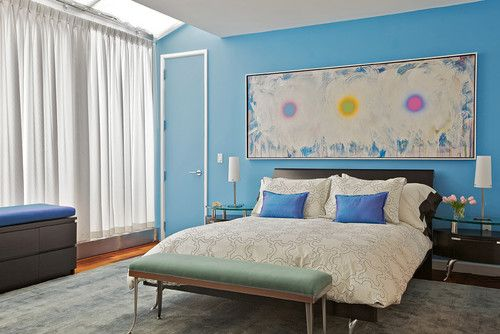 Tribeca Penthouse - contemporary - bedroom - new york - Marie Burgos ...