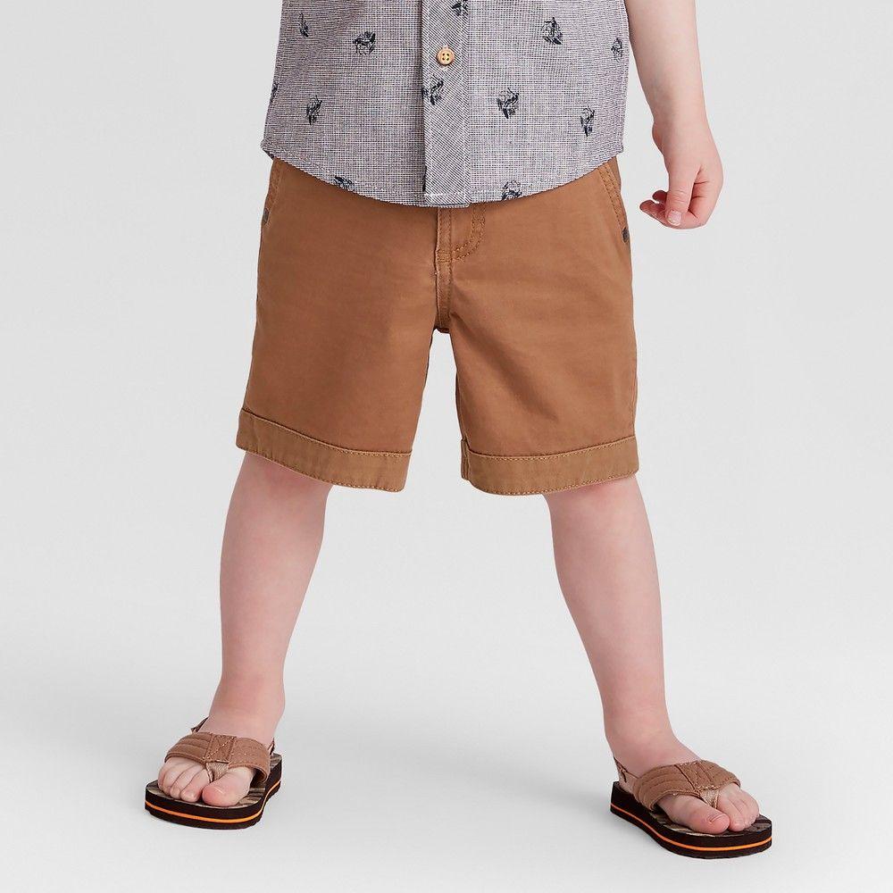 b8f73726ab Toddler Boys' Genuine Kids from OshKosh Chino Shorts - Brown 12M ...