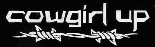 Cowgirl Up Barbwire Window Sticker Decal Truck Decals