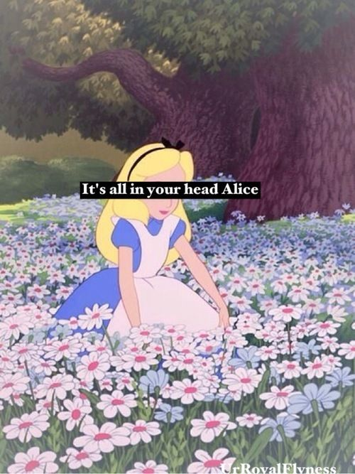 it's all in your head, alice... on We Heart It