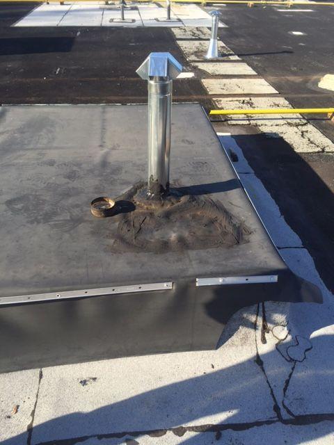 Vent Through Roof Curb Roof Curb Hvac Hacks Hvac