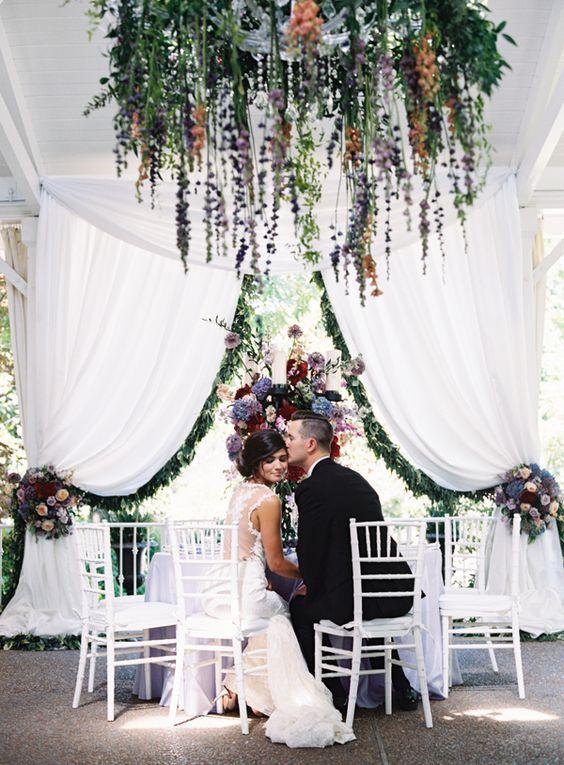 Berry Toned Garden Wedding Splendor