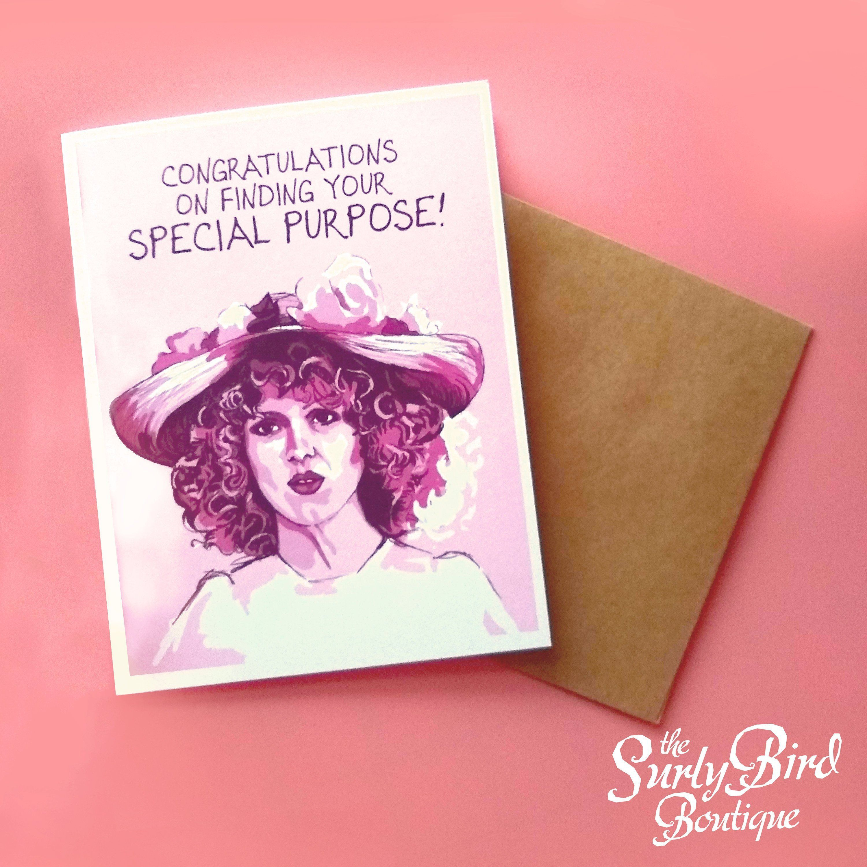 Bernadette Peters SPECIAL PURPOSE greeting card Etsy