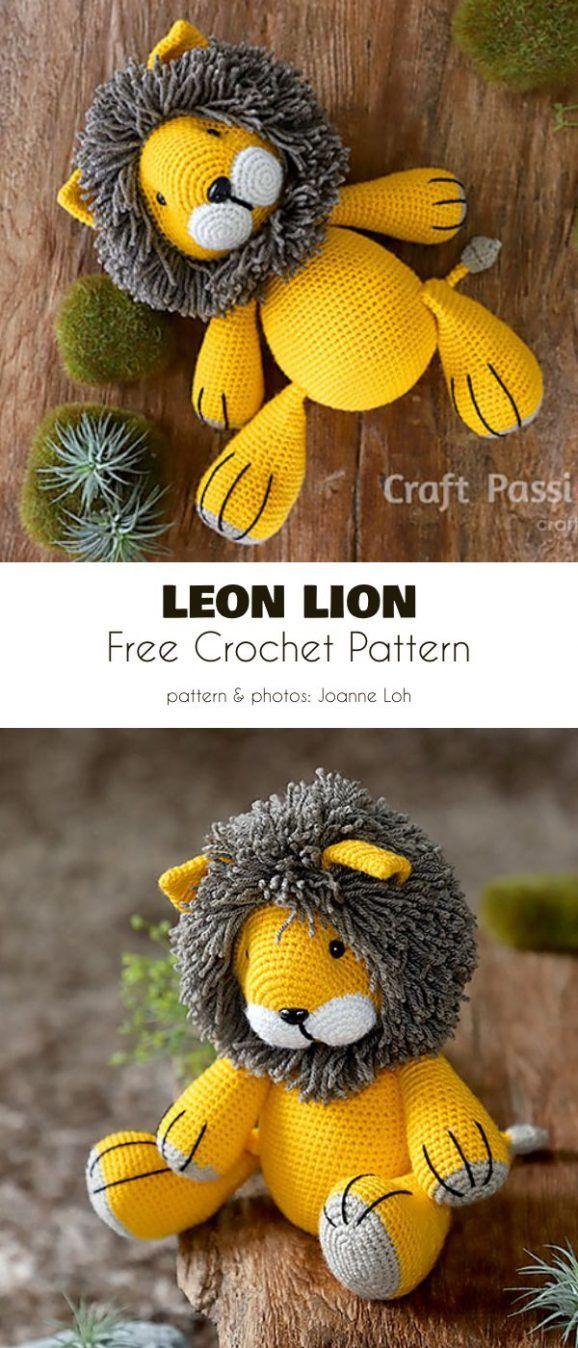 Leon Lion Amigurumi Free Crochet Pattern #littledolls
