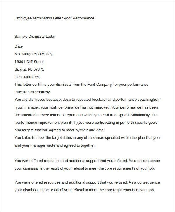 employee termination letter free amp premium templates format - employee termination letters