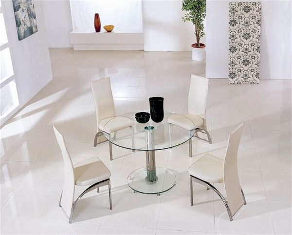stylish sleek glass dining tables with white wall wall art glass