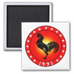 Year of the Rooster 1993 Magnets