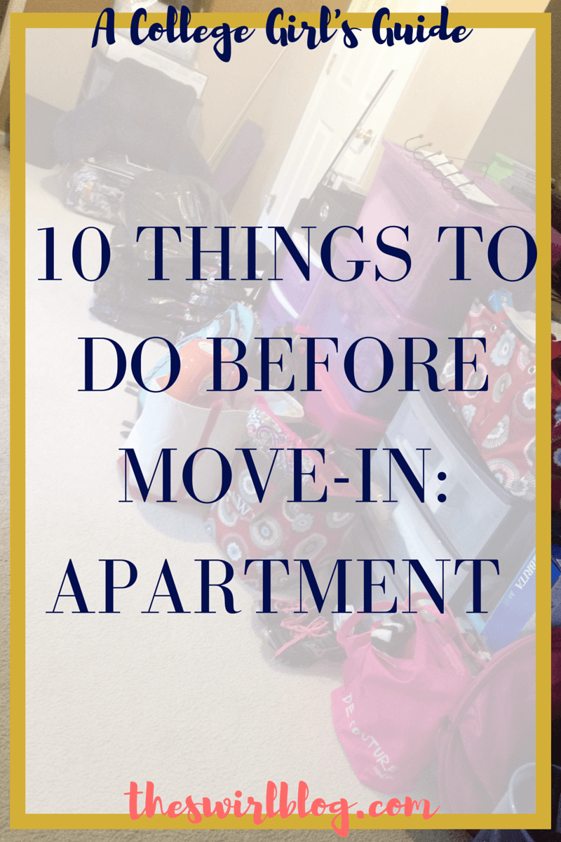 A College Girl\'s Guide: 10 Things to Do Before Move-in: Apartment ...