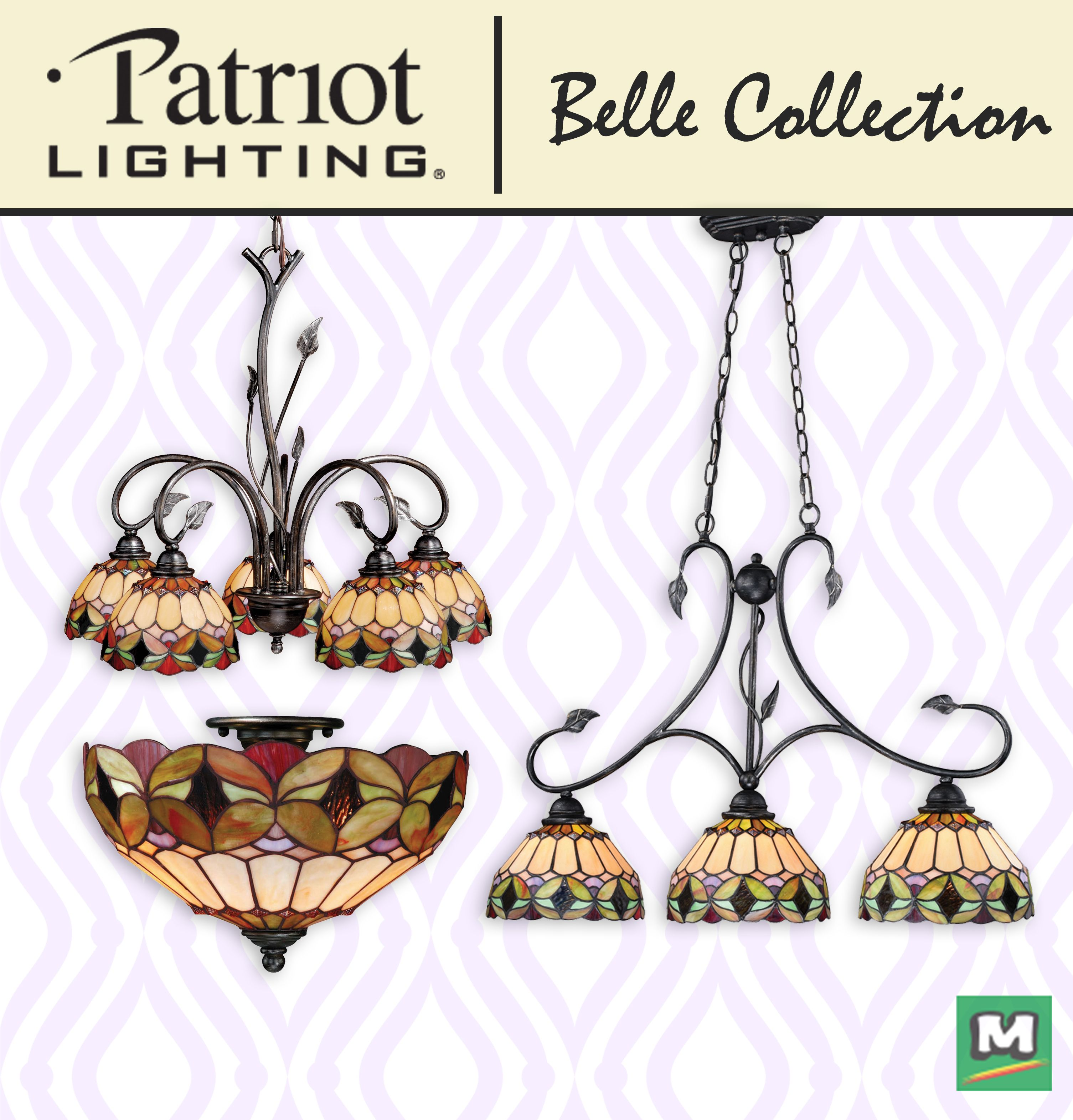 You Ll Create Quite The Sensation In Your Home With The Patriot Lighting Belle Lighting Collection Each Fixture Tiffany Style Lighting Collections Oil Shale