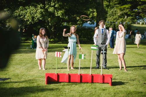 Hoopla and traditional fairground games are great for entertaining guests at summer weddings.  Available for hire from Cornwall's Box and Cox Vintage Hire.