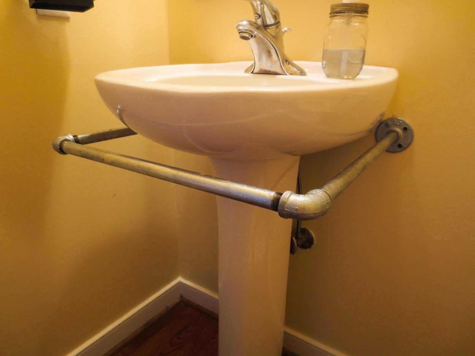 How To Make A Pedestal Sink Skirt Rod