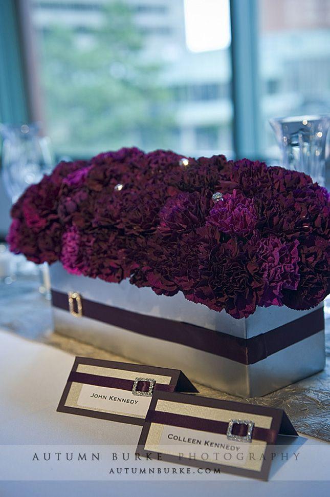 humble carnations en masse in deep amethyst