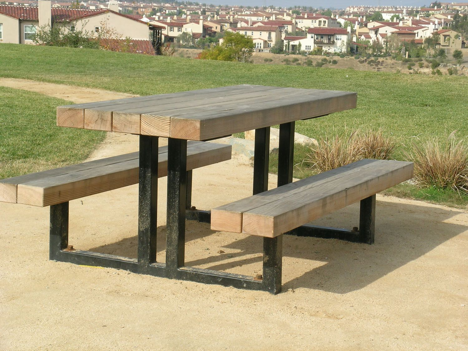 Metal Frame Picnic Table HU Cnxconsortiumorg Outdoor - Heavy duty commercial outdoor park picnic table frame kit
