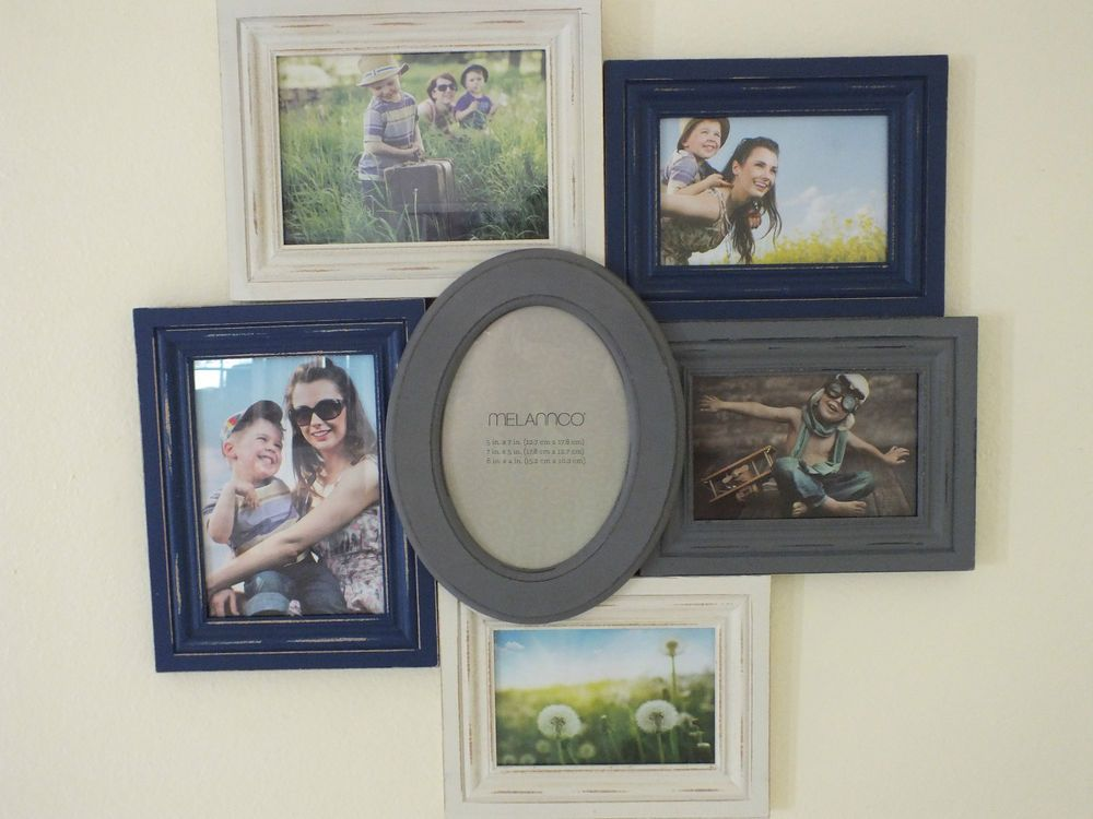 New Melannco 6-Opening Multi-Color 2-Size (4x6, 5x7) Collage Frame ...