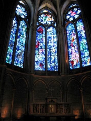 When visiting France, you must visit Reims and its great Gothic cathedral where the kings of France were once crowned. It has some wonderful stained glass by Marc Chagall. conciergeq
