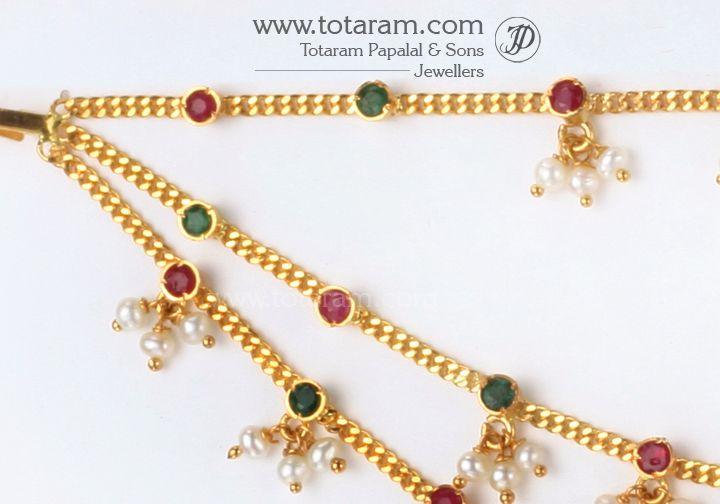 22K Gold Champasaralu Gold Ear Chain Totaram Jewelers Buy Indian