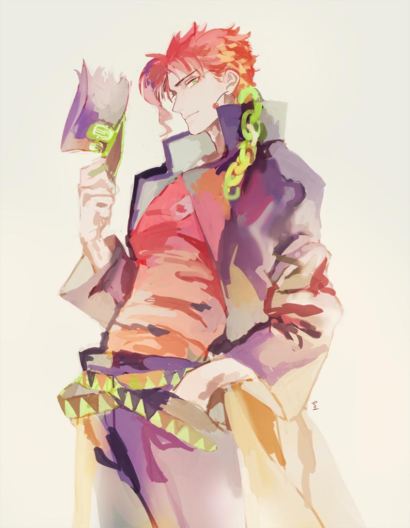 Kakyoin dressed as Jotaro Painting References