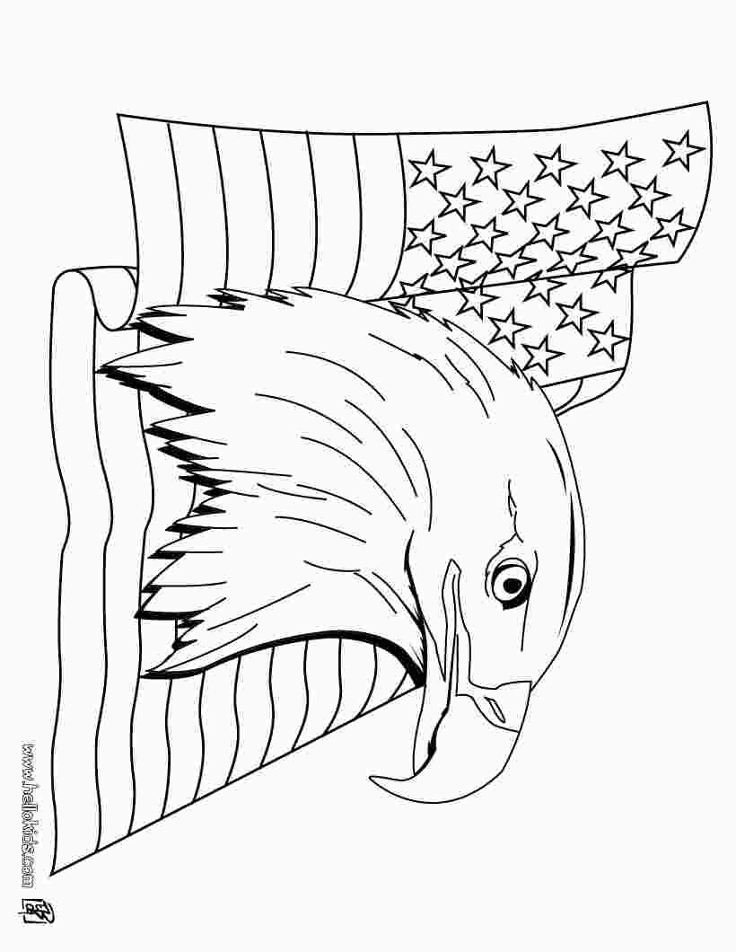 Eagle And Flag Coloring Page Flag Coloring Pages American Flag