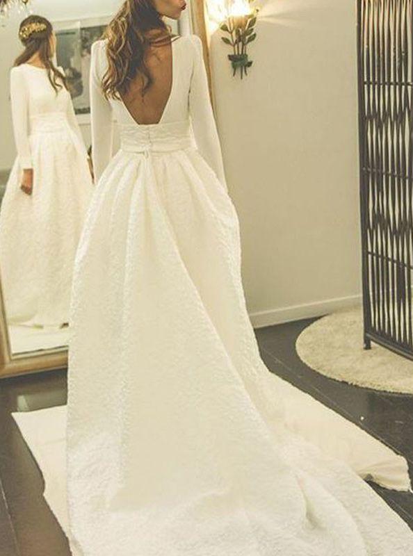Top 50 brautkleid mit ärmel romantisch schlicht #gorgeousgowns