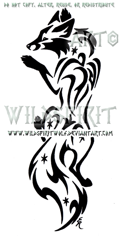 Middle Earth Climbing Fox Design by *WildSpiritWolf on
