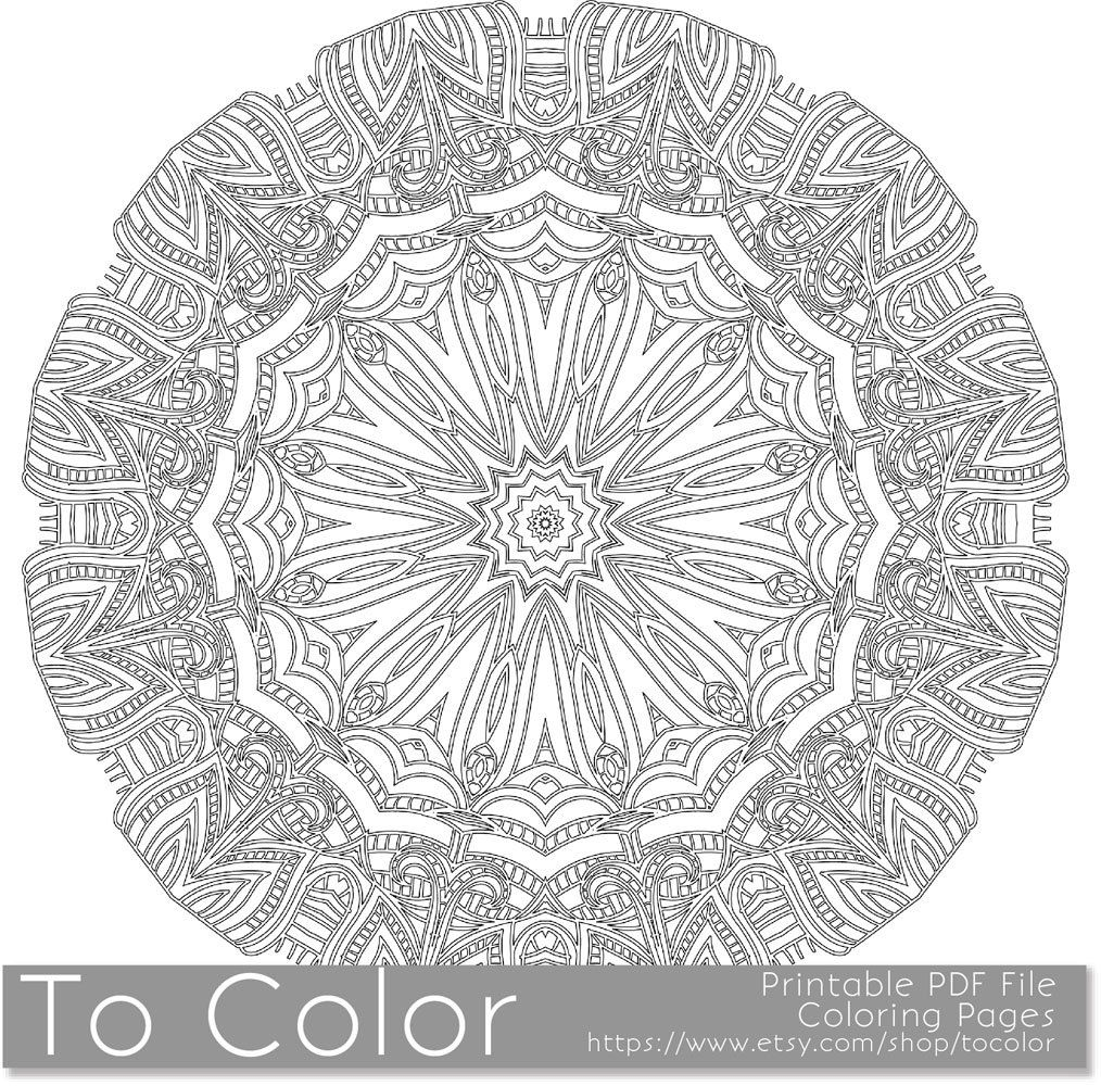 Intricate printable coloring pages for adults gel pens for Pen coloring pages