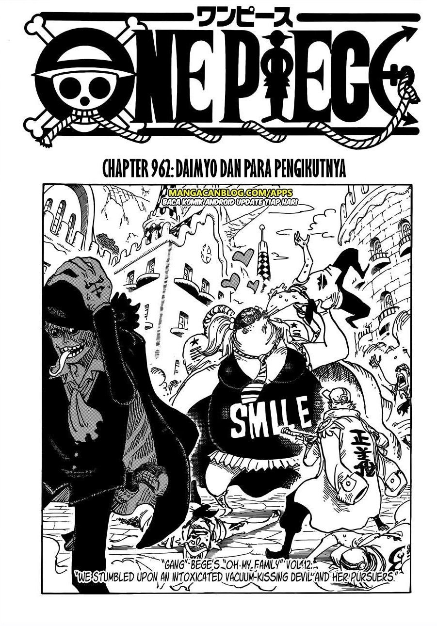 Baca One Piece Chapter 962 Bahasa Indonesia Komik