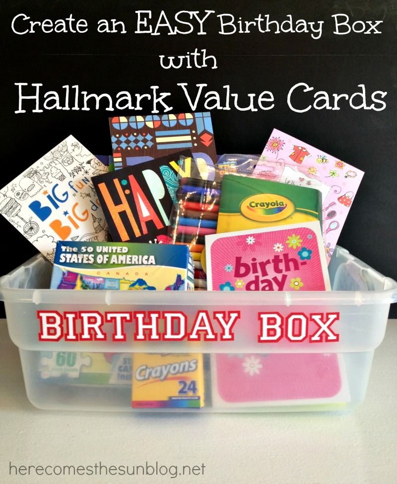 Easy birthday box with hallmark value birthday cards birthdays easy birthday box with hallmark value birthday cards bookmarktalkfo Choice Image