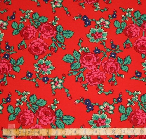 Flowered Material 100% Polyester 60
