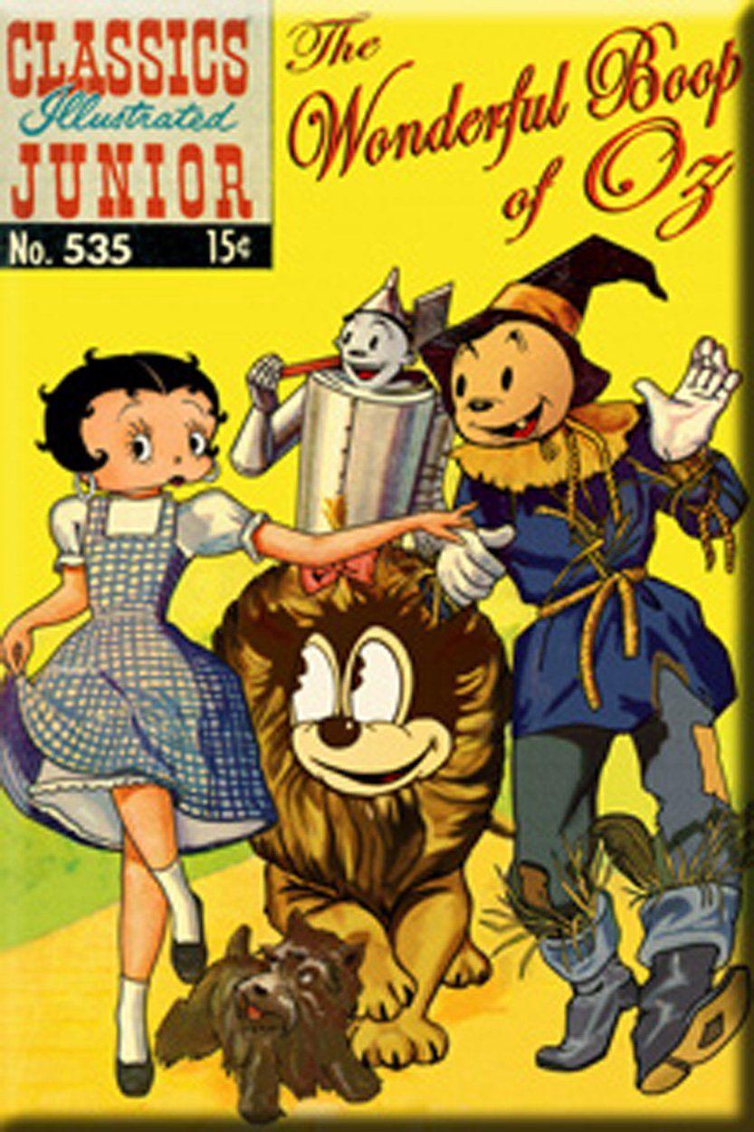 Betty Boop - Wonderful Boop of Oz Magnet - parody | BB - Other Lands ...
