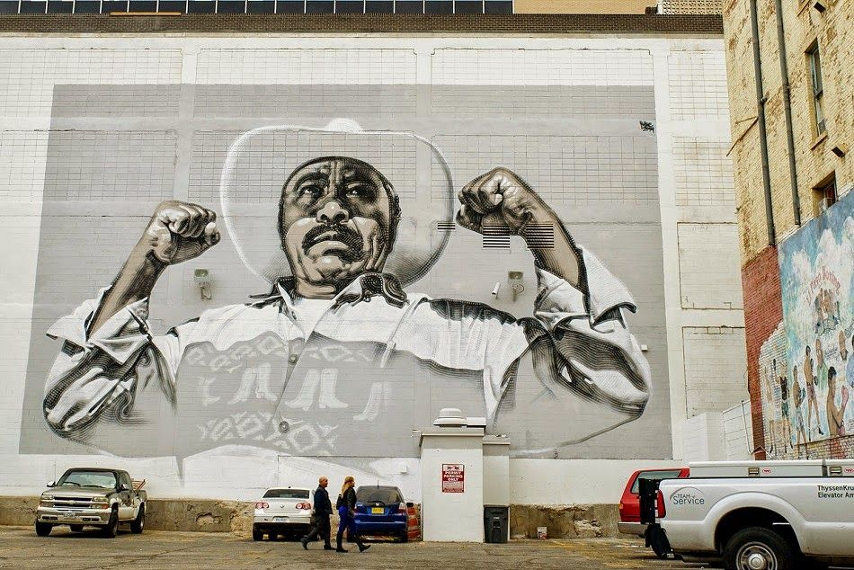 "After finishing his ""Juarense y Poderosa"" mural in Ciudad"