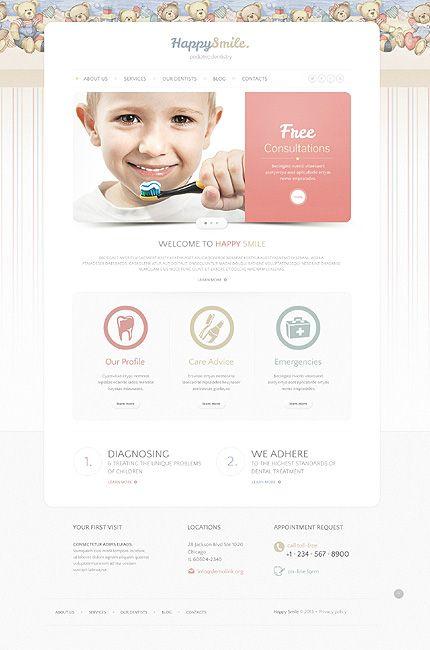 Pediatric Dentistry Theme 75 Bootstrap Responsivedesign Dental Care Smile Shablon Sajta Stomatologiya Shablony