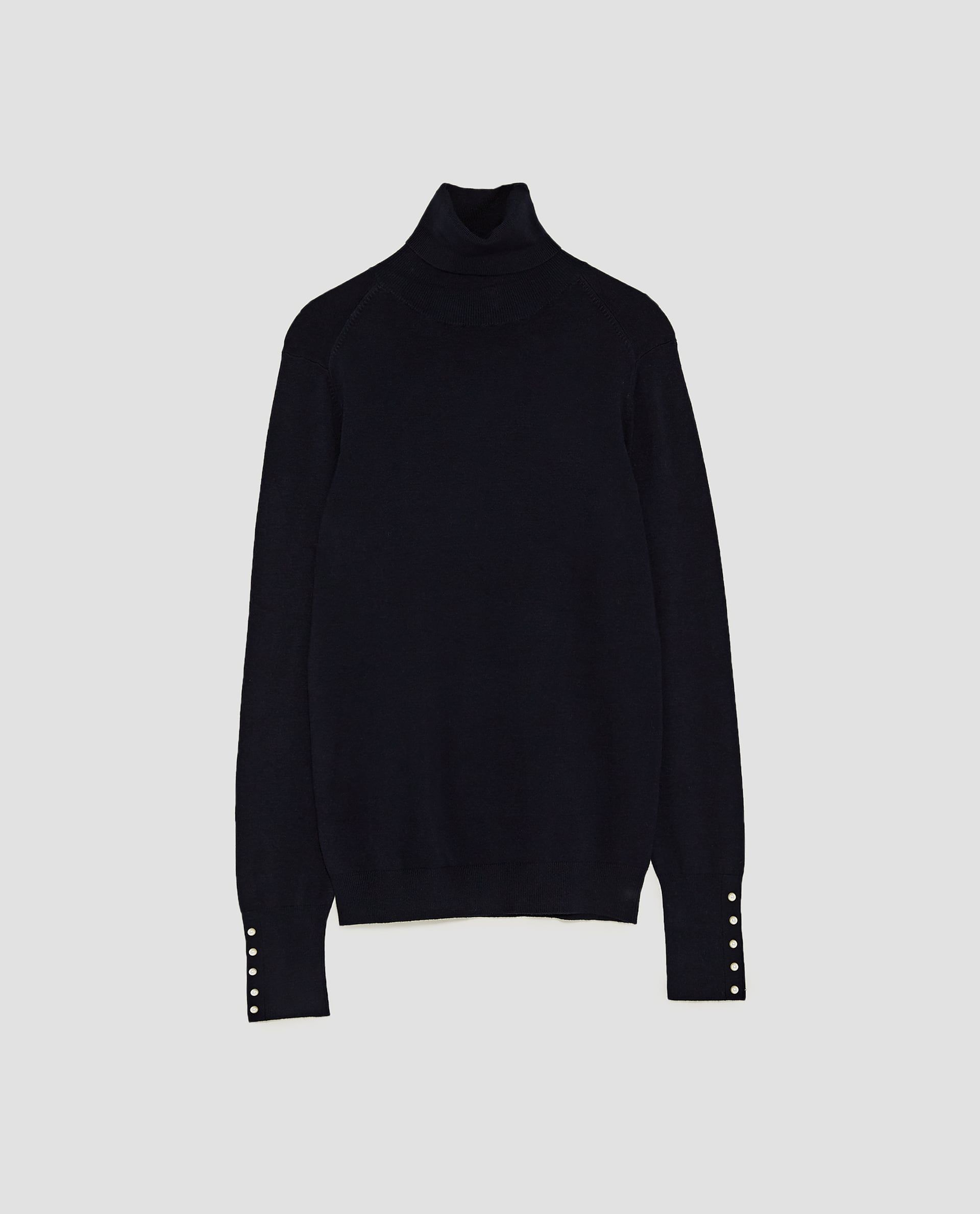 1d4dfe9c0 Image 6 of TURTLENECK SWEATER WITH PEARL BUTTONS from Zara ...