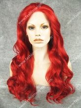 """24"""" #3100 Wavy Lace Front Synthetic Hair Red Cosplay Wig High Quality Heavy…"""