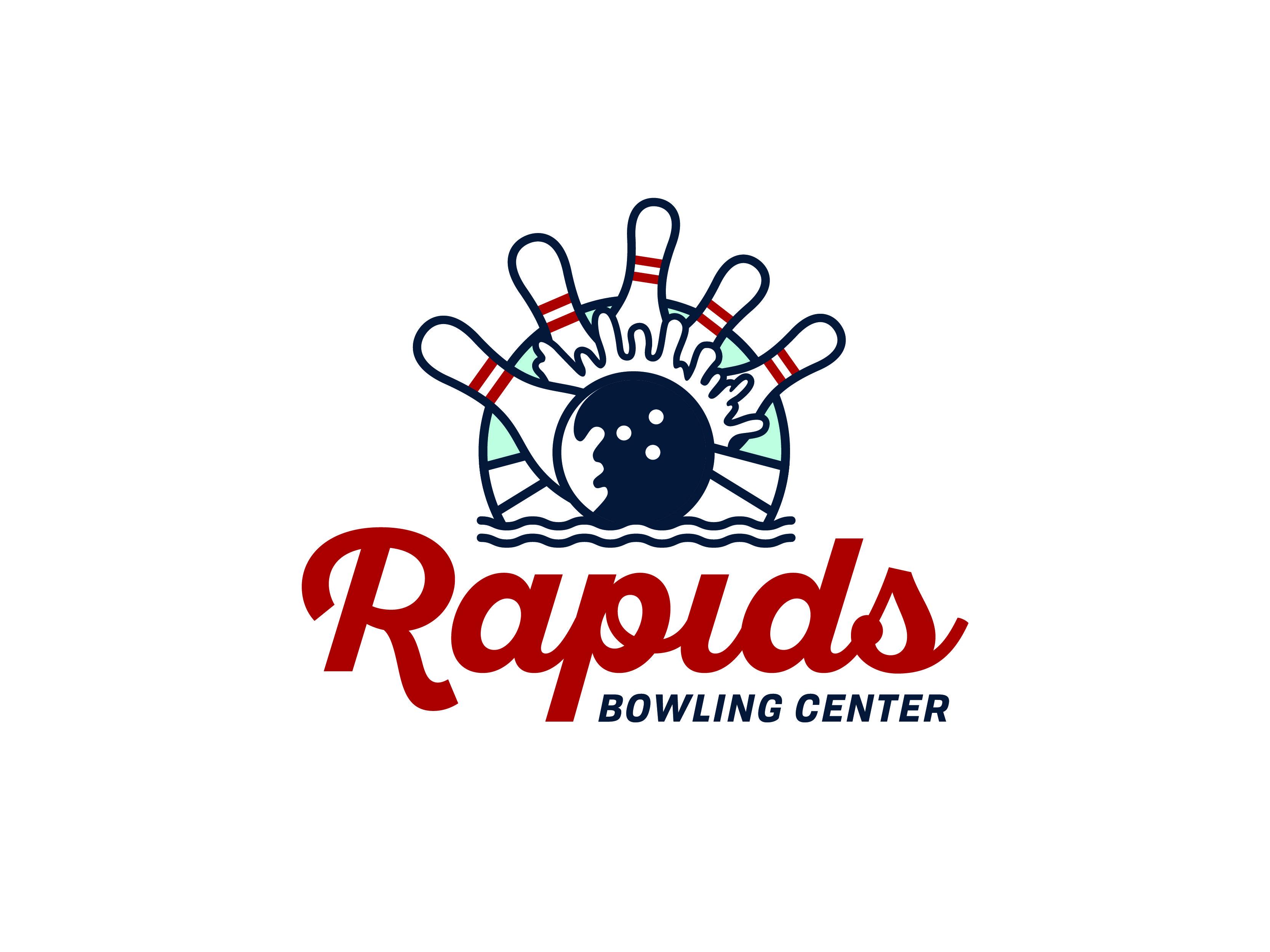 Rapids Bowling Logo Concept Graveyard 1 1 Logo Concept Bowling Logos