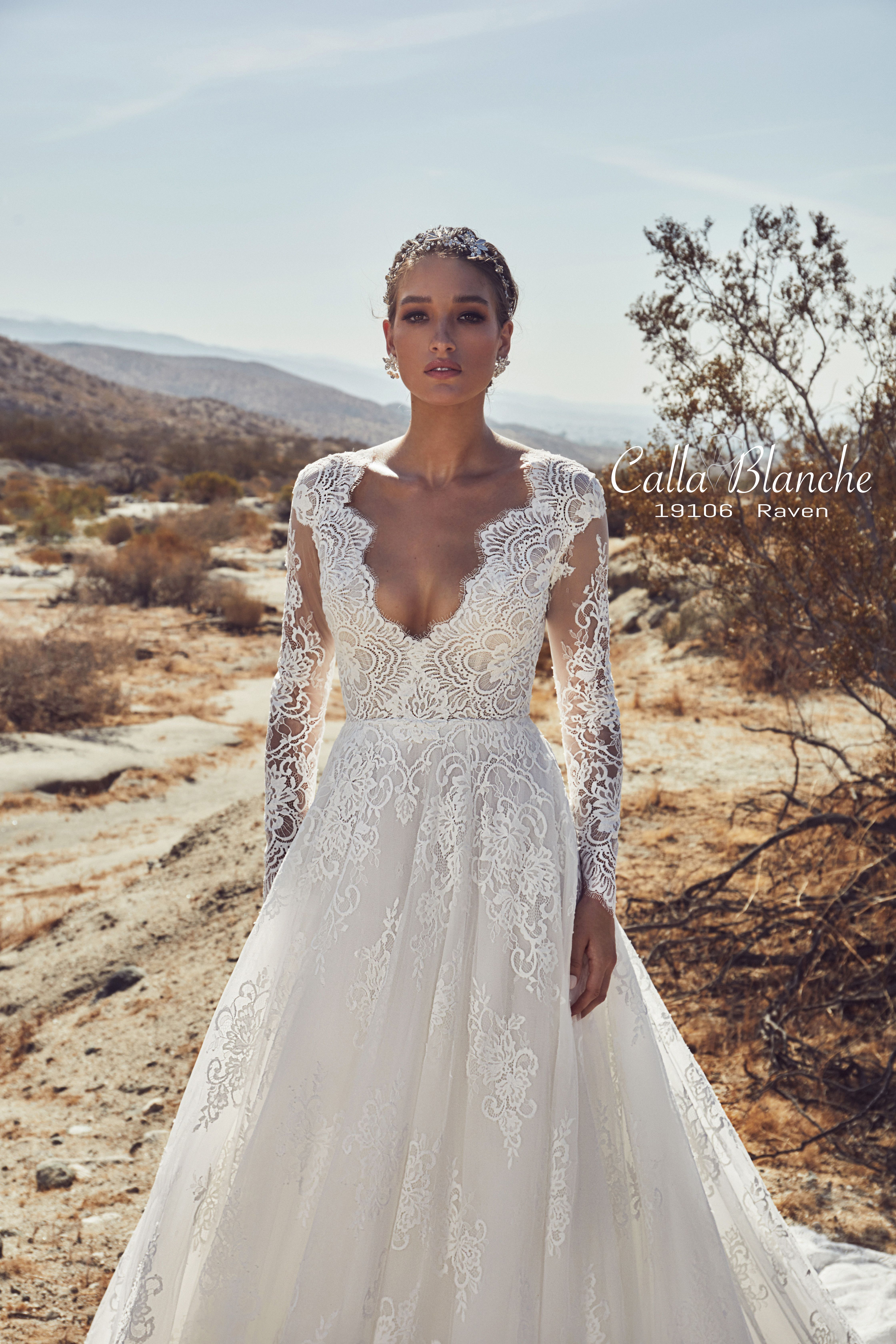 31ab665c567 Calla Blanche Spring 2019 Collection Style  19106 Raven Available Colors   Ivory