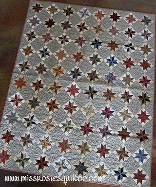 star quilt pattern.
