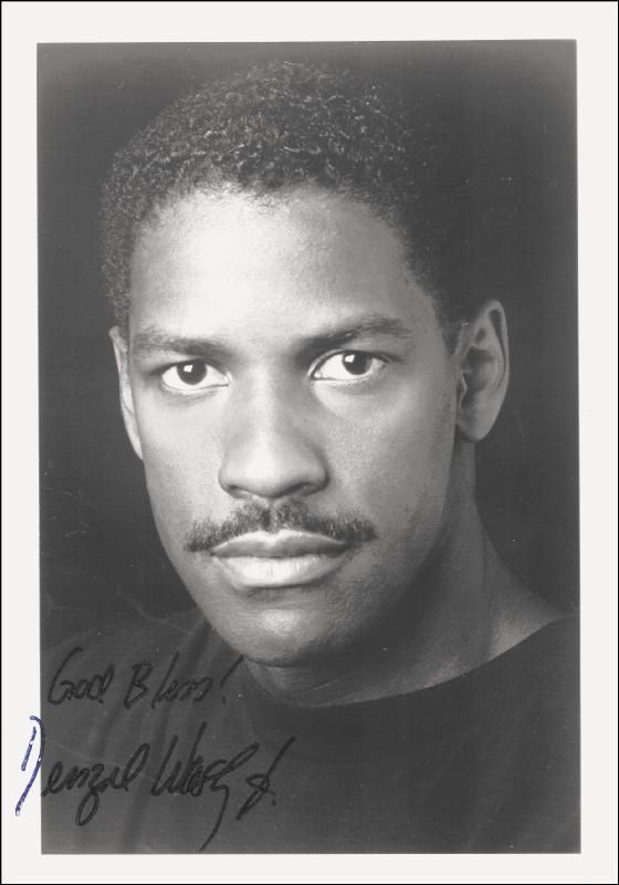 Denzel Washington Autographs Pinterest
