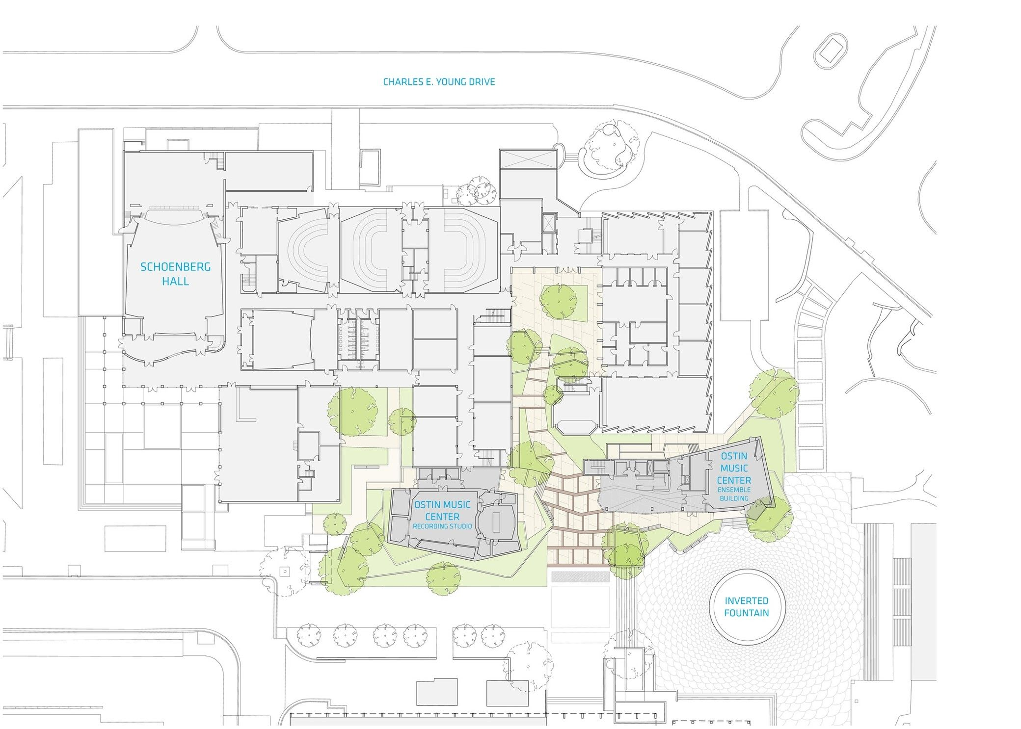 The Evelyn And Mo Ostin Music Center Kevin Daly Architects Arch2o Com Architect Music Centers Site Plan