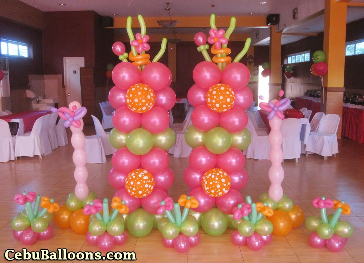 Columns For Decorations Party Decorations Balloons Buscar Con Google Baby Shower Nia