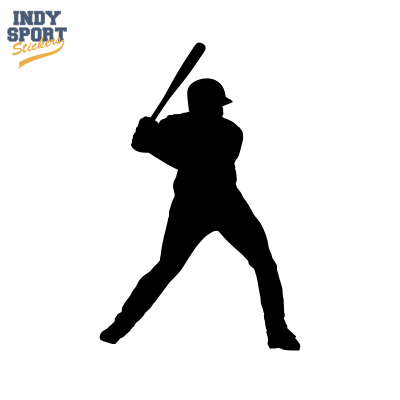 Baseball Batter With Silhouette Car Stickers And Decals Vector Free Png Images Baseball Batter