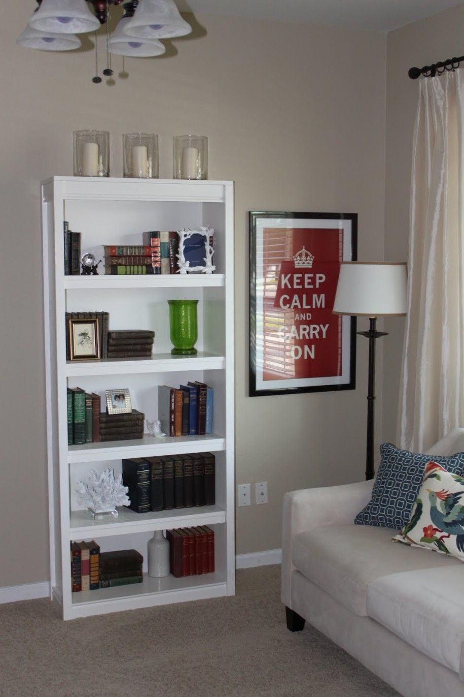 Simple Homemade Bookshelves Concept For Reading Room Tiny White Bookcase In Living Room Simple Hom Bookshelves In Living Room Bookshelf Design Bookshelf Decor