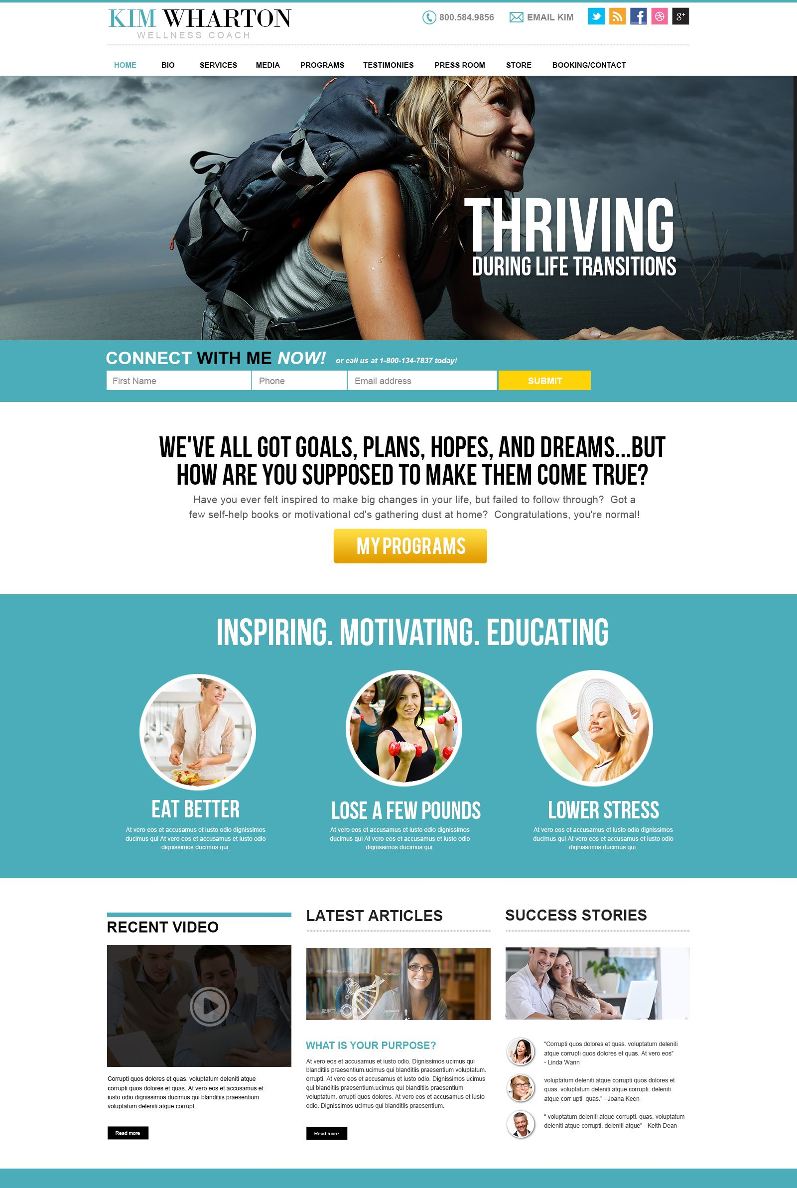 Wellness Coach Website Design Concept Make An Impact Have The Tools Strategies You Need To Succeed Wi Coach Website Wellness Coach Website Design Inspiration