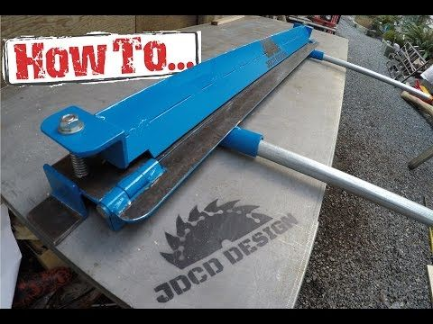 how to home made sheet metal brake built on a budget youtube