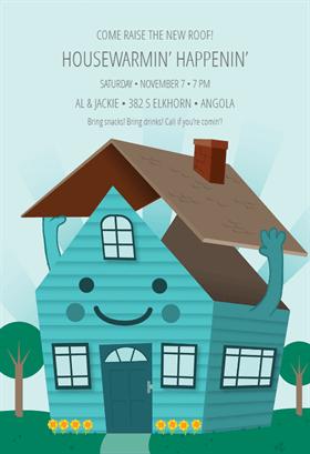 Happy Home Free Printable Housewarming Invitation Template