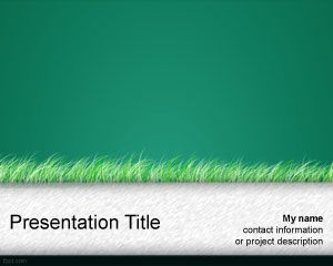 green grass powerpoint template is a free green theme for, Modern powerpoint