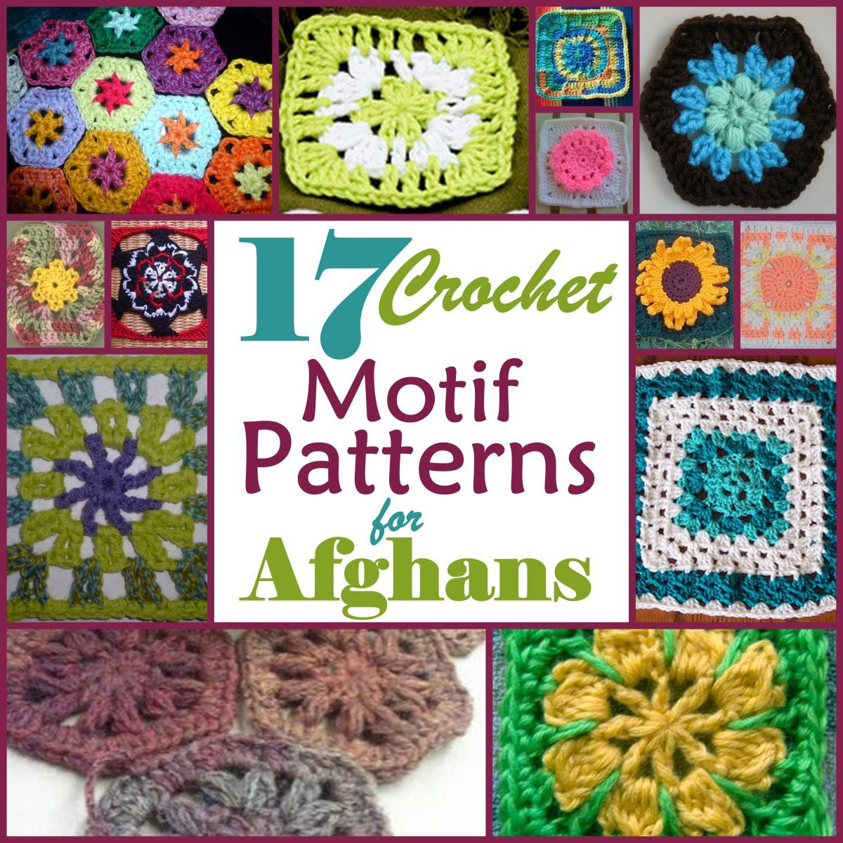 17 Motif Crochet Patterns for Afghans | CROCHET | Pinterest | Colcha ...