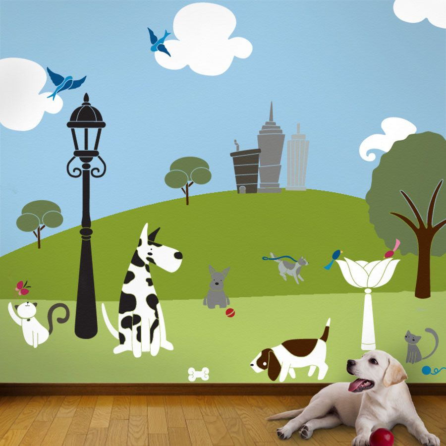 Superior 49 Individual Wall Mural Stencils Wide Variety Of Dog And Cat Stencils  Coordinating Paint Kit Available Part 31
