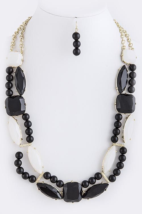 19+ Black and white jewelry sets ideas