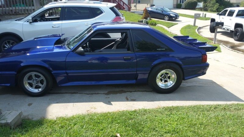 Mustang Gt Foxbody Car Columbia Missouri Drag Race